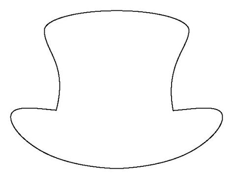 Top Hat Pattern Use The Printable Outline For Crafts Creating Stencils Scrapbooking And More Hat Template