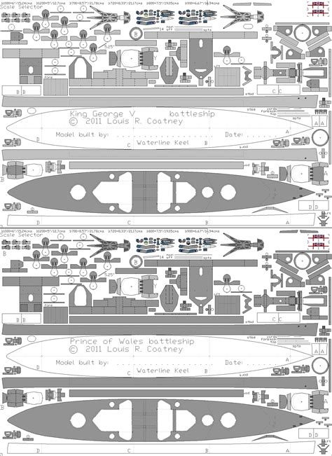 Battleship Papercraft - free cardstock paper model world war 2 ii warships