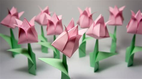 Origami Flower 100th - origami tulip viyoutube