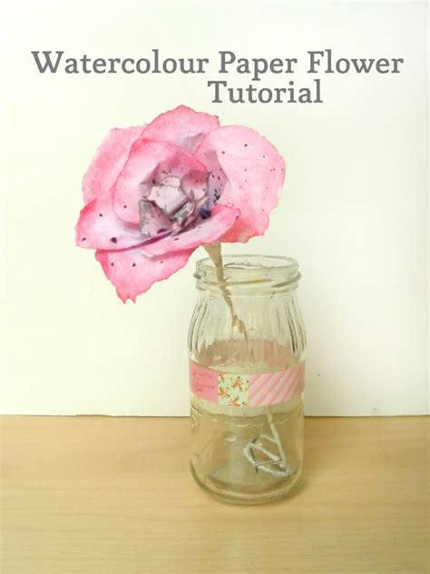 watercolour paper flower tutorial watercolour paper flowers make and fable