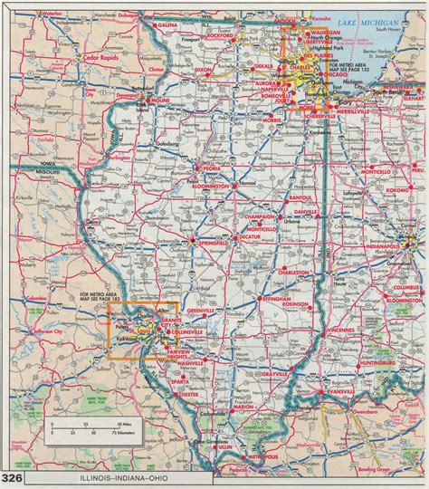 road map illinois usa index of maps