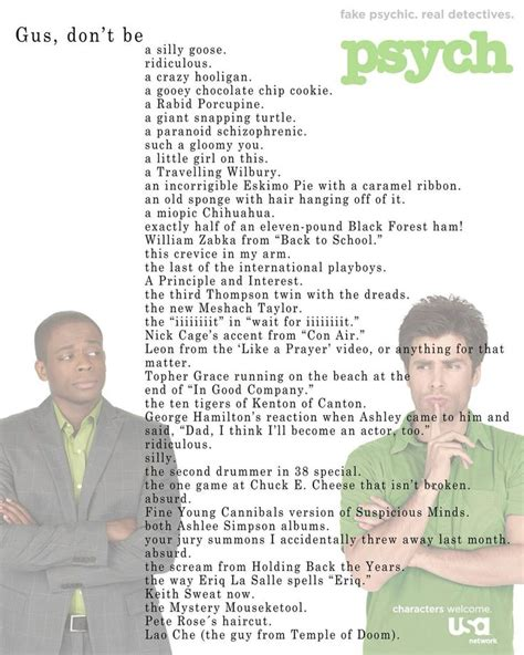 psych quotes gus from psych quotes quotesgram