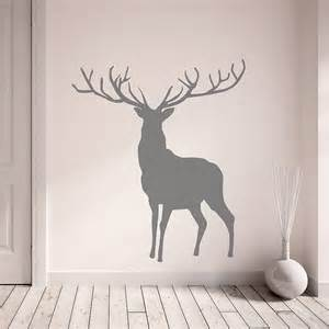 home accessories wall art stag sticker dark grey romantic flower stickers decor wallpaper
