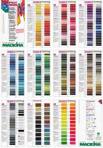 madeira thread color chart madeira embroidery thread color chart pictures to pin on