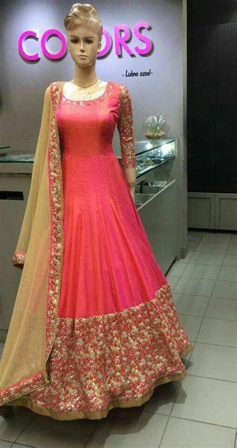 design gaun online buy dark peach embroidered cotton silk salwar with dupatta