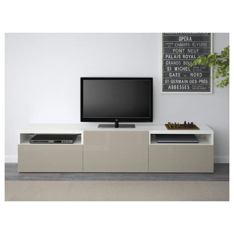 besta beige best 197 tv bench white selsviken high gloss beige 180x40x38
