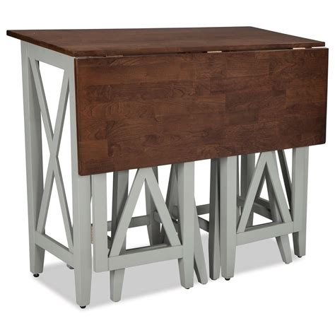 Drop Leaf Pub Table Two Tone Drop Leaf Breakfast Bar Table By Intercon Wolf And Gardiner Wolf Furniture