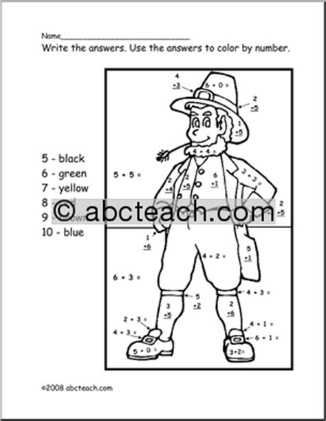 Search Results For St Patricks Day Addition Subtraction Color By Number One Marching With Picture