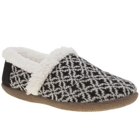 white house slippers womens black white toms house slippers schuh