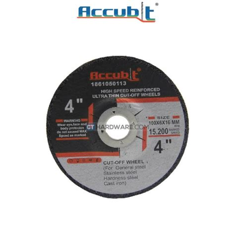 Cutting Disc 4 100 X 08 Mm American Tools accubit metal disc 100mm 4 quot x 6mm x 16mm x10pcs cutting powertools