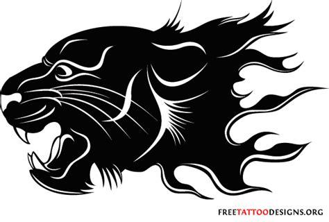 panther head tattoo caballeros chopper