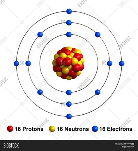 Sulfur Protons by 3d Render Atom Structure Sulfur Image Photo Bigstock