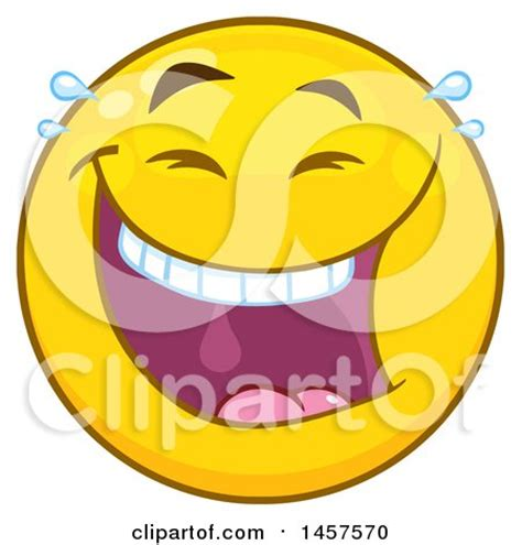 clipart of a cartoon laughing emoji smiley face royalty
