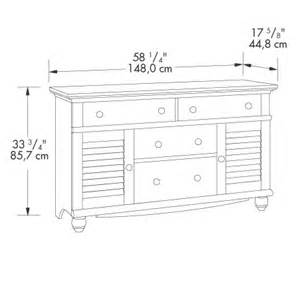 sauder harbor view antiqued paint dresser 401324