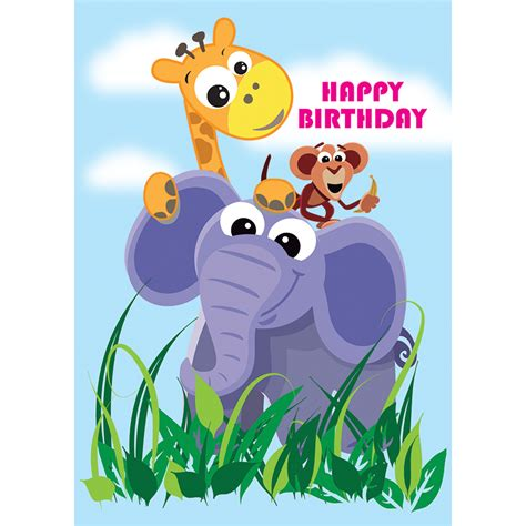 template for children s cards children s birthday cards bumper pack