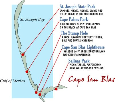 cape san blas florida map places to visit in cape san blas port st joe