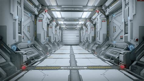 Blueprints For My House scifi corridor by sungwoo lee in environments ue4