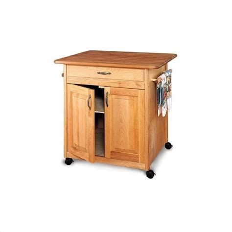 catskill craftsmen big island butcher block kitchen cart in natural finish 63036
