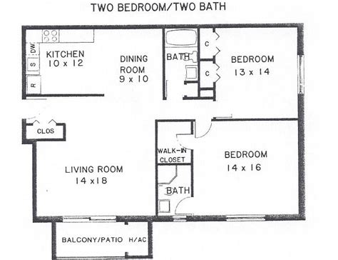 two bedroom two bath floor plans bedroom at real estate
