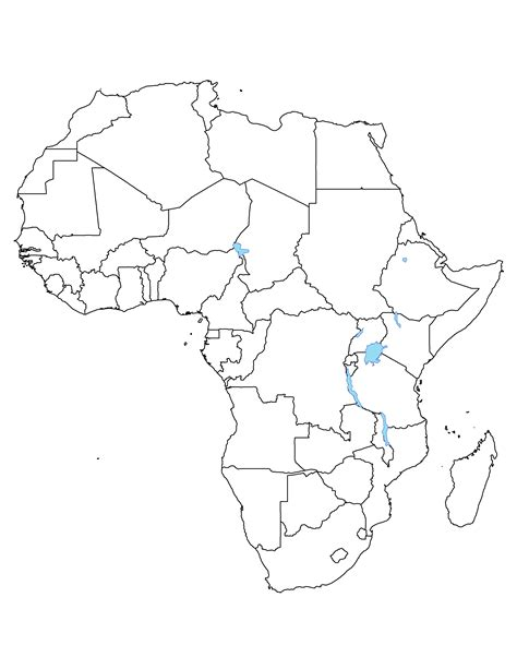 africa map outline africa political outline map size