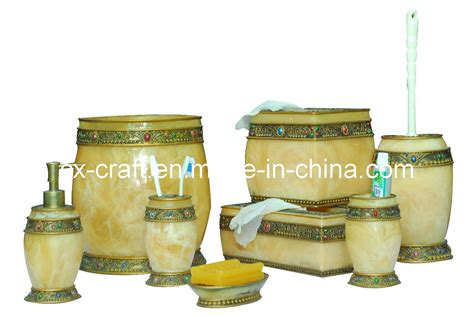 marble bathroom accessories sets china imitated marble bathroom accessory set cx080183