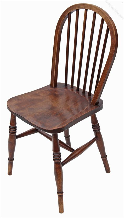 Dining Chair Set Of 6 Set Of 6 Spindle Back Ash Kitchen Dining Chairs Antiques