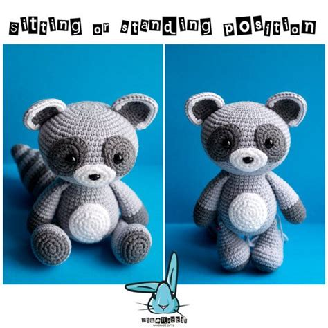 amigurumi raccoon pattern free baby raccoon amigurumi crochet pattern pdf file by