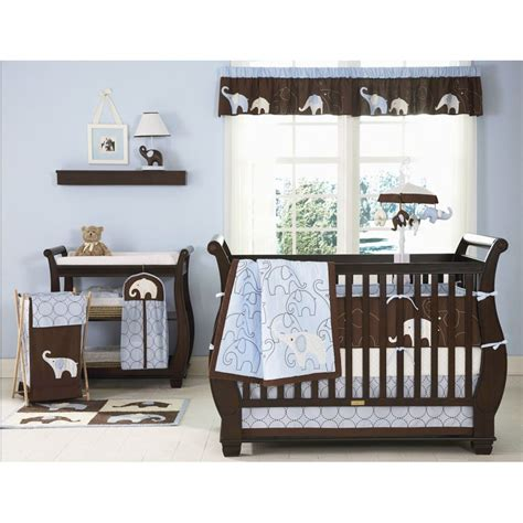Elephant Crib Bedding For Boys Kidsline S Blue Elephant Crib Bedding Collection Boy Polyvore