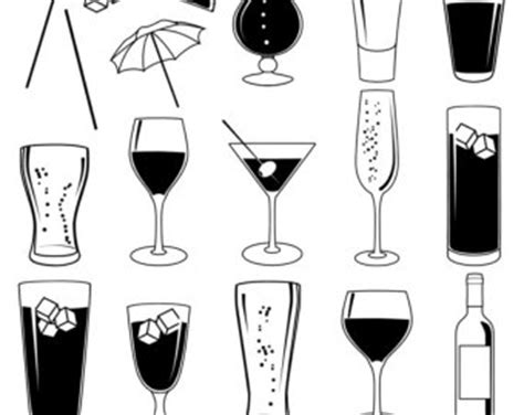 mixed drink clipart black and white cocktail clipart wine glass pencil and in color cocktail