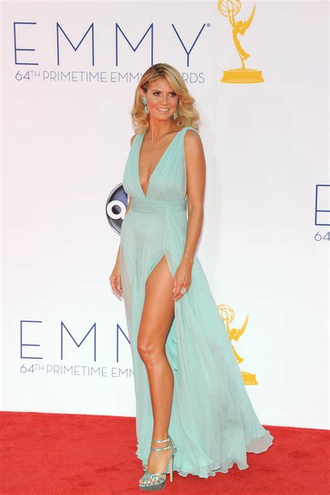 Deals On Carpet Heidi Klum Wears Turquoise High Heels And Statement
