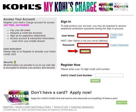 Kohl S Credit Card Login Make A Payment Creditspot