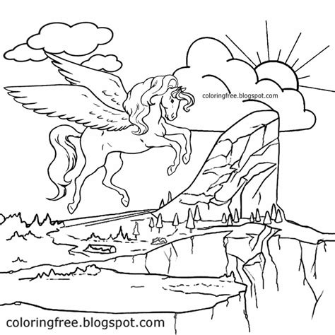 coloring pages flying unicorns 92 unicorns flying in the air coloring pages