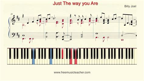 Tutorial Keyboard Just The Way You Are | how to play piano billy joel quot just the way you are quot piano