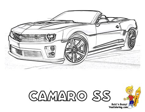 free coloring pages of new camaro