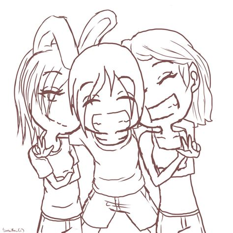 Drawing W Friends by Three Friends By Xxsasunaruuchihaxx On Deviantart