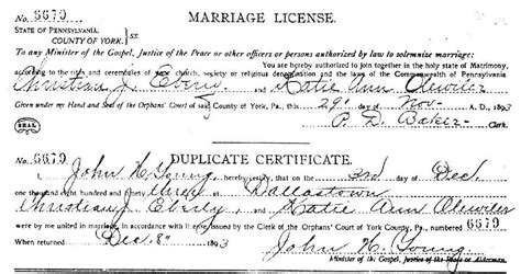 Marriage Records Pennsylvania York County Pa Usgenweb Archives Marriage Records