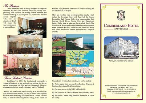 The 2 Seasons The custard portfolio cumberland hotel leaflet