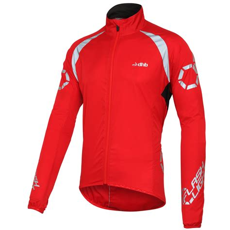 red cycling jacket wiggle dhb flashlight windproof jacket cycling