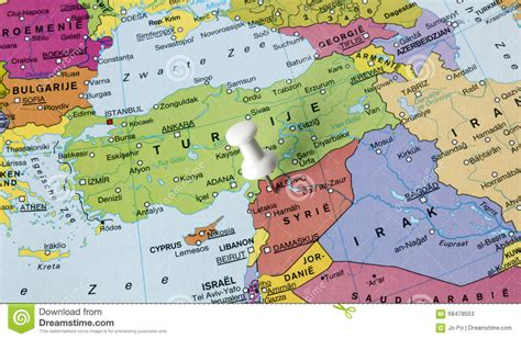 syria middle east map map of syria in middle east stock photo image 68478553