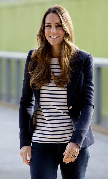 Cressida Stripe Shirt Navy kate middleton print blouse kate middleton clothes looks