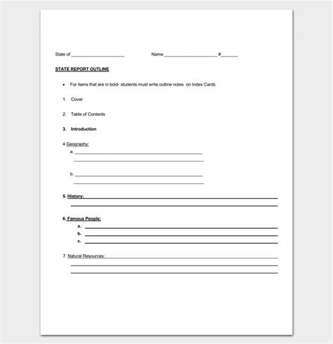 state report template toreto co