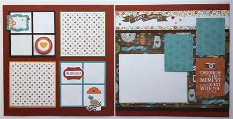 scrapbook layout kits artsy albums mini album and page layout kits and custom