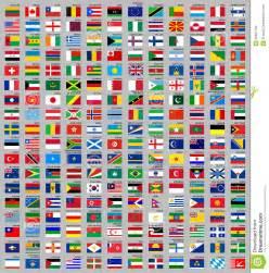 216 drapeaux du monde images libres de droits image