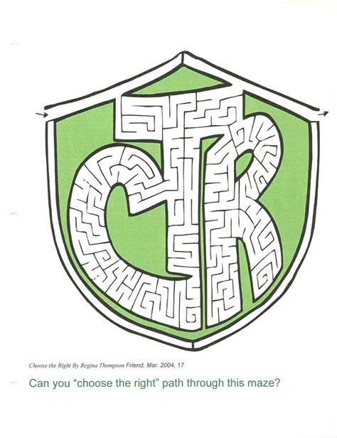 printable lds mazes happy clean living primary 3 lesson 1