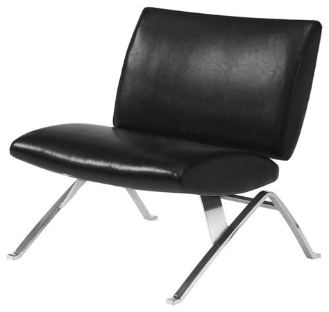 black leather look chrome metal modern accent chair accent chair black leather look chrome metal