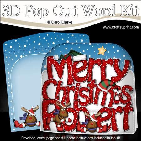 merry christmas robert rudolph pop  xmas word card cup craftsuprint