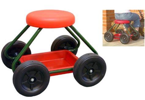 ideas wheeled garden seat stool 1435 handy