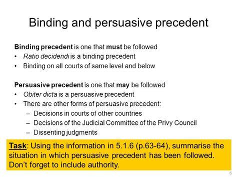 Persuasive Precedent judicial precedent the doctrine of precedent ppt