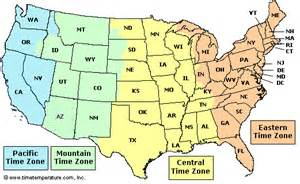 time zone map arizona arizona time zone to est
