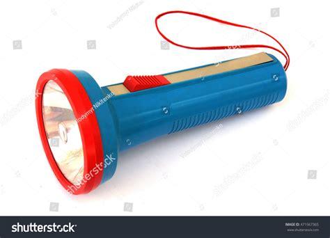 colorful flashlight plastic colorful pocket flashlight on white stock photo